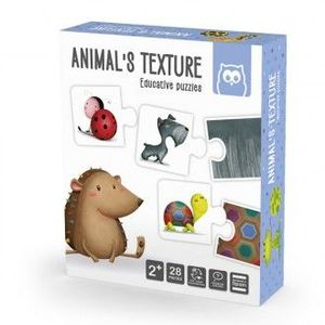 ANIMALS TEXTURE PUZZLE EDUCATIVO 28 PIEZAS EUREKAKIDS