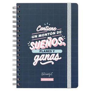 AGENDA 2020 SEMANA VISTA CONTIENE UN MONTON DE SUEÑOS, PLANES Y GANAS MR. WONDERFUL