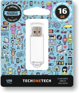 PENDRIVE 16GB USB 2.0 BLANCO