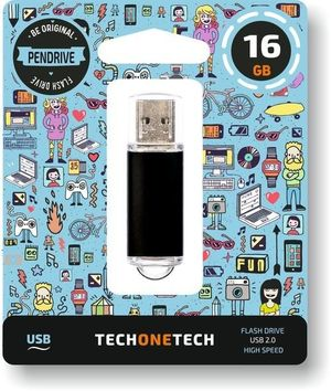 PENDRIVE 16GB USB 2.0 NEGRO