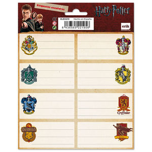 ETIQUETAS ESCOLARES HARRY POTTER