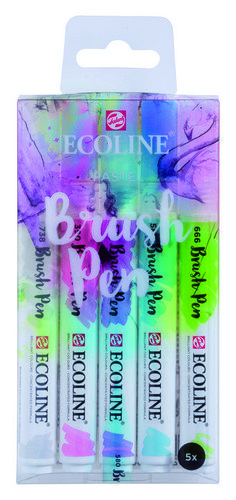 PACK 5 ROTULADORES ECOLINE BRUSHPEN