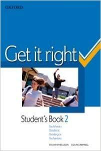 2BCH. GET IT RIGHT 2 STUDENT'S BOOK OXFORD