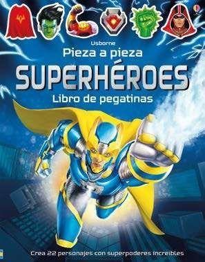 LIBRO DE PEGATINAS SUPERHEROES PIEZA A PIEZA