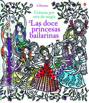 COLOREA POR ARTE DE MAGIA LAS DOCE PRINCESAS BAILARINAS