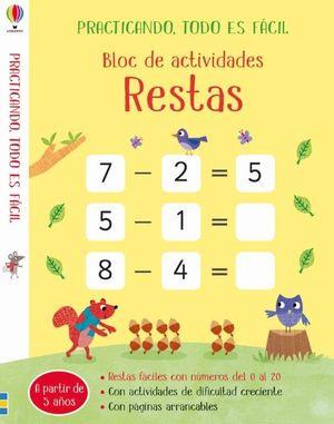 BLOC DE ACTIVIDADES. RESTAS
