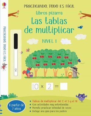 LIBROS PIZARRA. TABLAS DE MULTIPLICAR