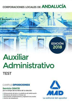 AUXILIAR ADMINISTRATIVO DE CORPORACIONES LOCALES DE ANDALUCIA. TEST