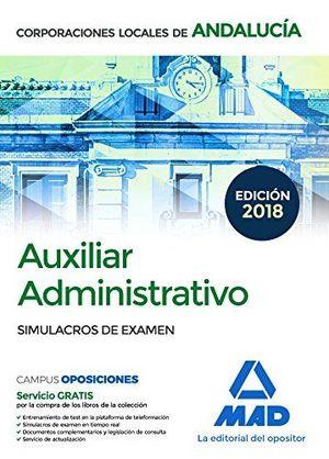 ADMINISTRATIVO CORPORACION LOCAL ANDALUCIA SIMULACROS DE EXAMEN MAD
