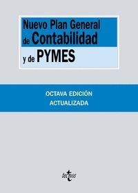 NUEVO PLAN GENERAL DE CONTABILIDAD Y DE PYMES (8ª ED.): REALES DECRETOS 1.514/2007 Y 1.515/2007, DE 16 DE NOVIEMBRE TECNOS