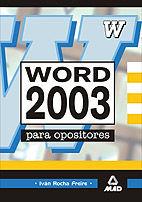 WORD 2003 PARA OPOSICIONES