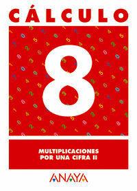 CALCULO 8 MULTIPLICACIONES POR UNA CIFRA II