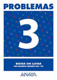 PROBLEMAS 3. RESTAR SIN LLEVAR CON NUMEROS MENORES QUE 100 ANAYA