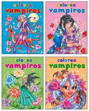 COLOREA VAMPIROS. (4 TITULOS)