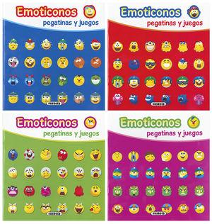 EMOTICONOS PEGATINAS Y JUEGOS 4 TITULOS