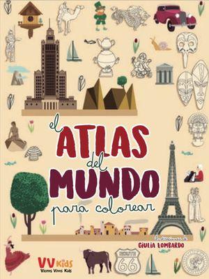 ATLAS DEL MUNDO PARA COLOREAR (VVKIDS)