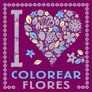 I LOVE COLOREAR FLORES