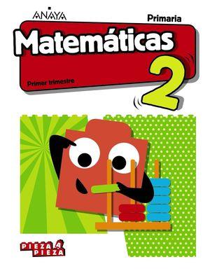 2EP. MATEMATICAS PIEZAS A PIEZA + TALLER RESOLUCION PROBLEMAS ANDALUCIA 2019 ANAYA