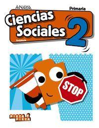2EP. CIENCIAS SOCIALES + SOCIAL SCIENCE IN FOCUS PIEZA A PIEZA ANDALUCIA 2019 ANAYA