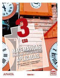 3ESO. MATEMATICAS APLICADAS TRIMESTRAL ANDALUCIA 20 SUMA ANAYA