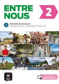 ENTRE NOUS 2 LIVRE DE L ELEVE + CAHIER D ACTIVITES + CD