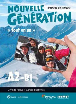 2BCH. NOUVELLE GENERATION A2/B1 LIVRE/EX+CD+DV SANTILLANA