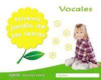 NUEVO JARDIN LETRAS VOCALES EI 17 LECTOESCRITURA ALGAIDA