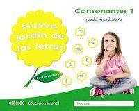NUEVO JARDIN LETRAS CONSONANTES 1 PAUTA EI 17 LECTOESCRITURA ANAYA