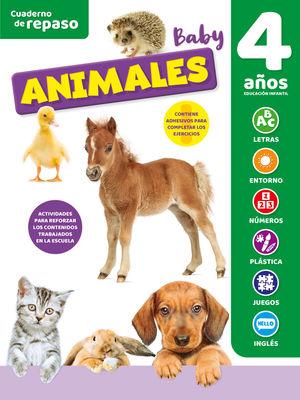 CUADERNO DE REPASO TEMATICO LUMINISCENTE 4 AÑOS ANIMALES BABY