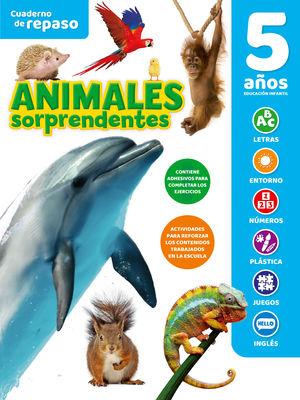 CUADERNO DE REPASO TEMATICO LUMINISCENTE 5 AÑOS ANIMALES SORPREND