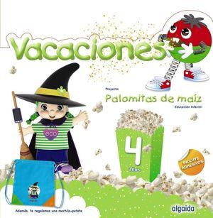 4AÑOS. CUADERNO VACACIONES 4 AÑOS PALOMITAS DE MAIZ ALGAIDA