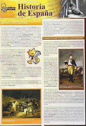 GUIA MICHA HISTORIA DE ESPAÑA 2º BCH. SELECTIVIDAD
