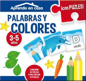 PUZZLES 3 PIEZAS EDUCATIVOS 3/5 PALABRAS Y COLORES