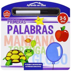 PRIMERAS PALABRAS LIBRO PIZARRA APRENDO EN CASA