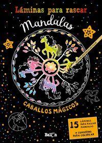 LAMINAS PARA RASCAR MANDALAS CABALLOS MAGICOS
